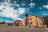 Территория гостиницы - гостиница Риони в Муроме